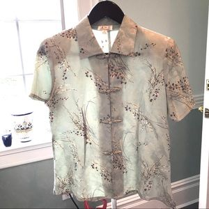Vintage Chinese 100% Silk Top